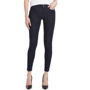 Bebe Ponte Ankle Zip Skinny Jeans